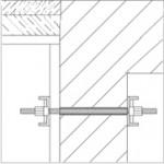 פיגום תלוי המקובע אל הקיר בעזרת מוט הברגה מהיר – דיוידג